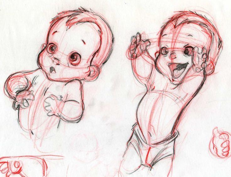 Little baby #Tarzan conceptual design 2, by #Disney