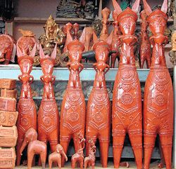 Handicrafts of India: Terracotta Potteries and Artifacts - Bishnupur - W...