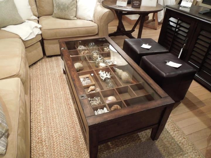 Townsend Coffee Table From Pottery Barn I Currently Have It Filled With Shells And Other Beach