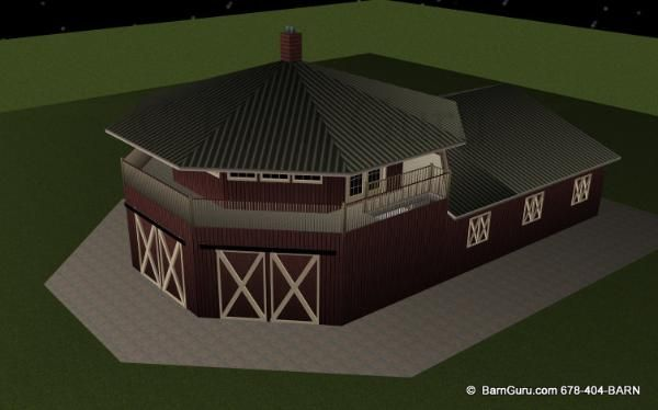 Barn Plans 4 Stall Horse Barn Living Quarters Design