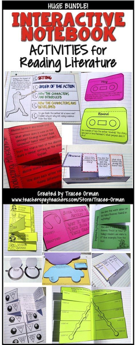 Interactive Reading Notebook for Literature - huge bundle of activities that includes vocabulary, figurative language, nonfiction, and more.