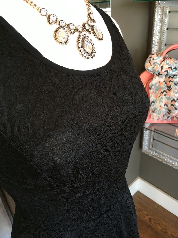 Here is a closer look at our Perfect Black Summer Skater Dress ($72CAD) #summer #summerstyle #fashionista