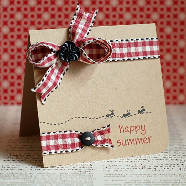 the Lawn Fawn blog: happy summer + card drive: Cards Driving, Cards Ideas, Summer Cards, Ribbons Wraps, Greeting Cards, Cards With Ribbons, Lawn Fawns Happy Summer, Homemade Cards, Fawns Blog
