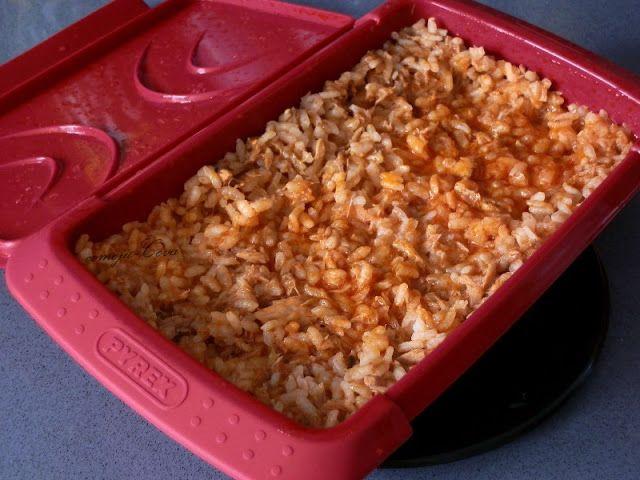 Comoju: Arroz con Bonito y Tomate al Microondas