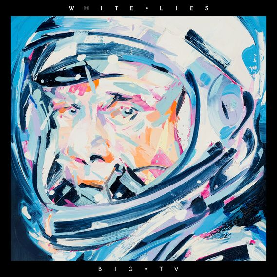 The cover for White Lies album Big TV, winner of the 2013 Best Art Vinyl award. The artwork features an oil on canvas painting of an astronaut, one of a series by Michael Kagan