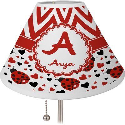 Ladybugs & Chevron Lamp Shade (Personalized)