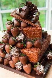 Znalezione obrazy dla zapytania torty czekoladowe z truskawkami