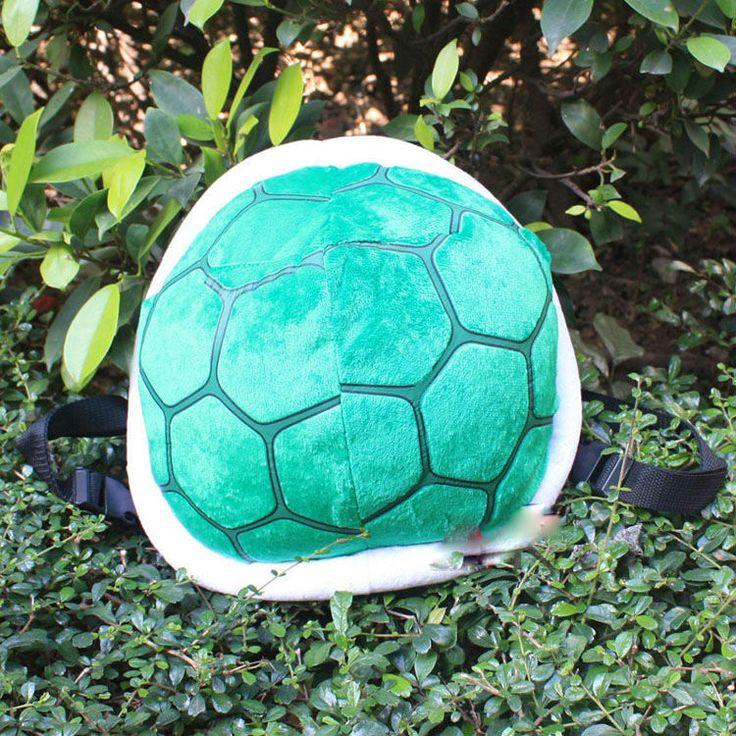 Free Shipping 25cm Super Mario Bros Turtle Shell Adjustable Backpack Plush Bag Retail