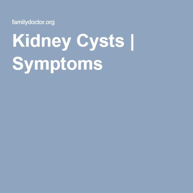 Kidney Cysts | Symptoms
