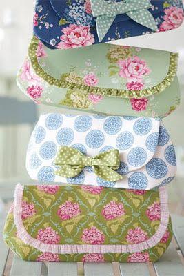 sweet pouches~tilda fabrics