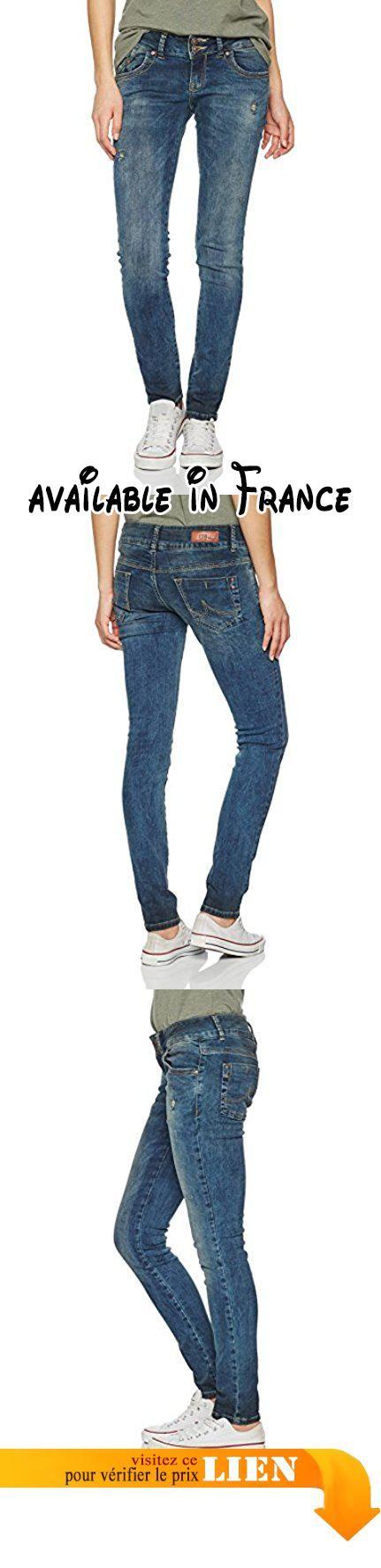 LTB Jeans Molly, Jean Coupe Ajustée Femme, Blau (Blau (Playa Wash 51081) 51081), 32 W/36 L. Effet déchiré.. Fermeture Éclair courte.. 5 poches.. Coupe ajustée. #Apparel #PANTS