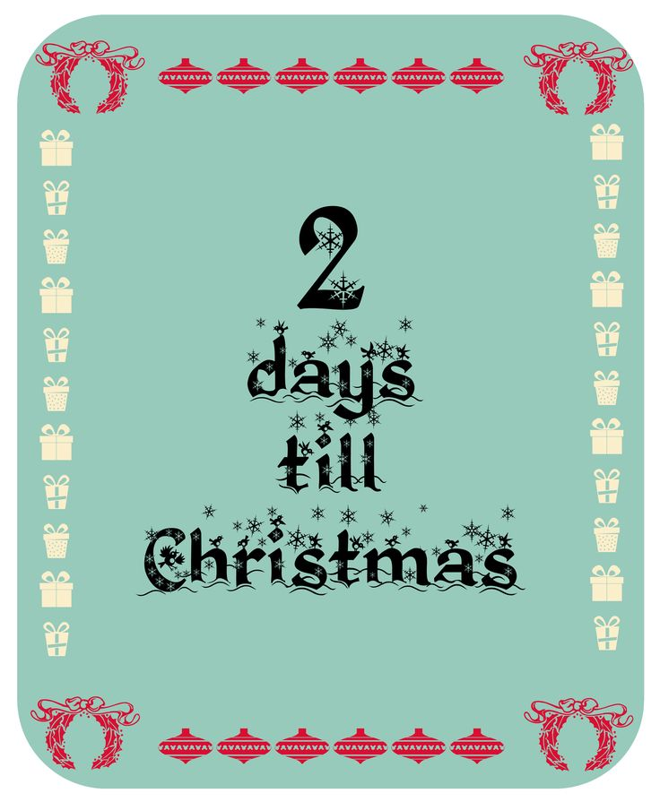 Ariadne from Ariadne's Wonderland & Giorgos are counting down till Christmas! 2 days left!