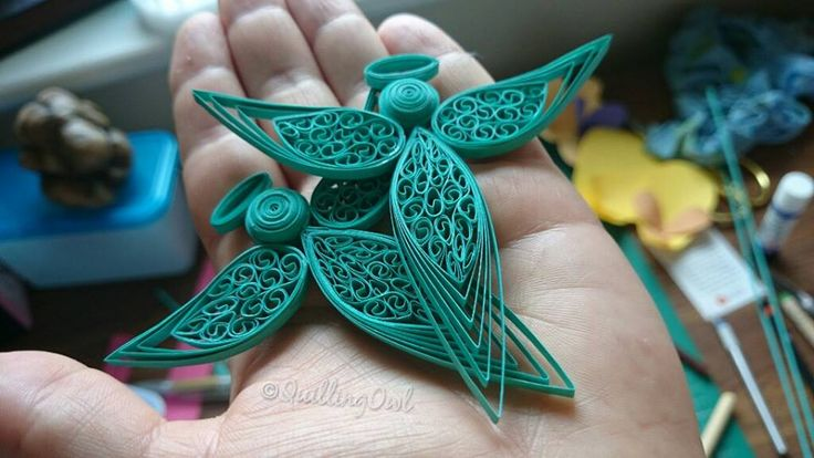 Quilled Angels (teal color)