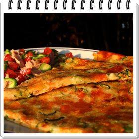 in cucina da Olly............: Finta pizza di fiori di zucchine