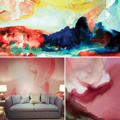 Watercolor Walls by Black Crow Studios