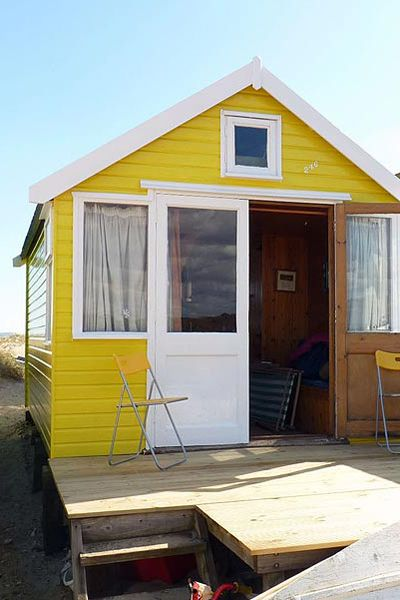 Yellow beach hut...compact living