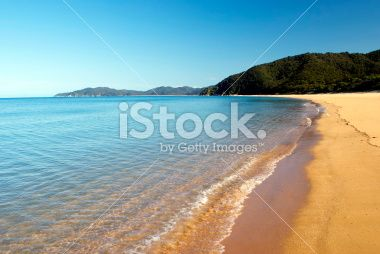 Totaranui Seascape, Abel Tasman National Park, New Zealand Royalty Free Stock Photo