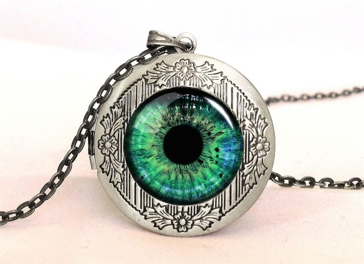 LOOK INTO MY EYES Locket, 0533LPOS from EgginEgg by DaWanda.com