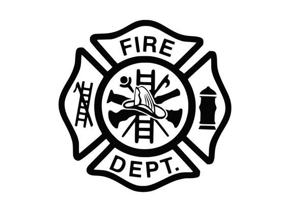 Fire Department Svg Fire Dept Svg Maltese Cross Svg Firefighter