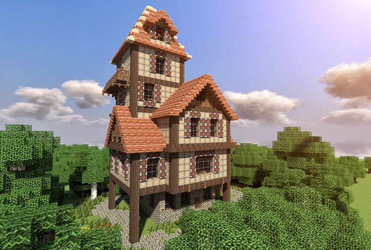How to build a beautiful medieval house Minecraft Blog
