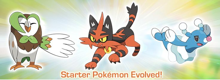Pokemon Sun and Moon Starter Evolutions Revealed - http://www.gackhollywood.com/2016/10/pokemon-sun-moon-starter-evolutions-revealed/