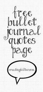 Free Printable Bullet Journal Page for your favourite quotes #bulletjournal #free #printable #blog #quotes #motivation