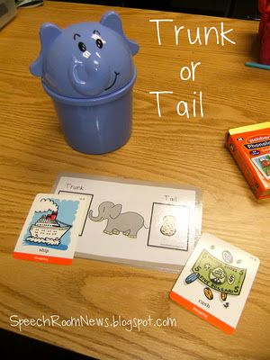 Trunk or Tail - free language/artic game. Repinned by SOS Inc. Resources.  Follow all our boards at http://pinterest.com/sostherapy  for therapy resources.