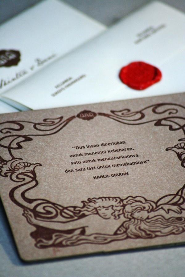letterpress wedding invitation by MCMURS LETTERPRESS YK , via Behance
