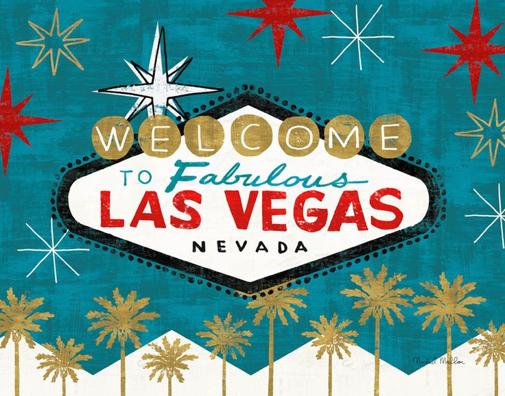 Las Vegas Sign, Artwork © Michael Mullan