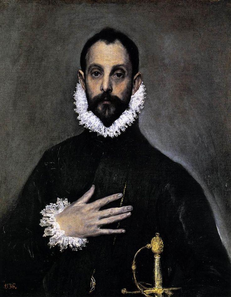 El Greco, Caballero con la mano en el pecho. 1583-85  Museo del Prado, Madrid
