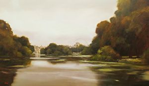 Evening Light, Hyde Park, London by Michael John Ashcroft in the FASO Daily Art…