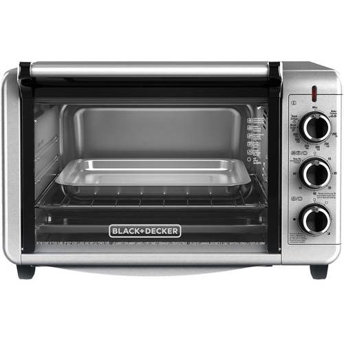 Black & Decker CTO6335S Stainless Steel Countertop Convection Oven - Oven is large enough to fit a 12-inch pizza or casserole dish.