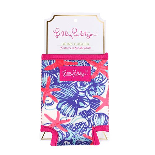 Keep your can cool through happy hour with an eclectic Lilly Pulitzer Beverage Hugger from Lifeguard Press. A perfect beach or backyard companion, this designer beverage sleeve is made with durable ne