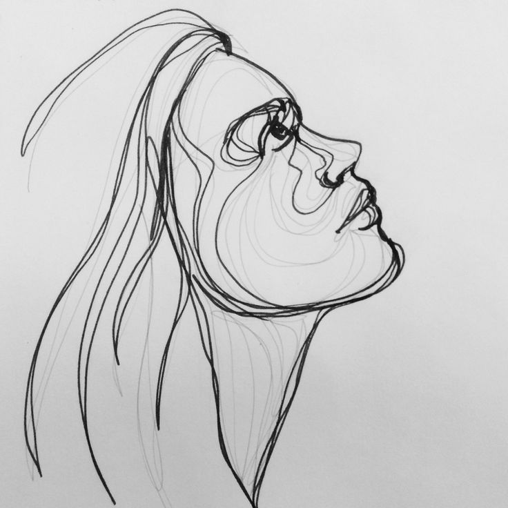 Contour Line Drawing Face : Best continuous line drawing images on pinterest