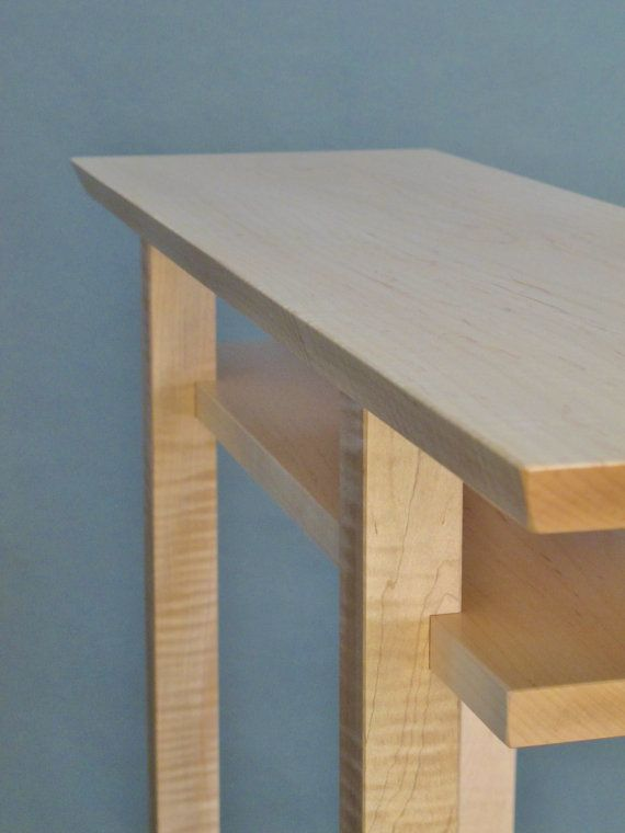 Choose A Table That Goes With Everything! This Narrow Table In Tiger Maple  Is A