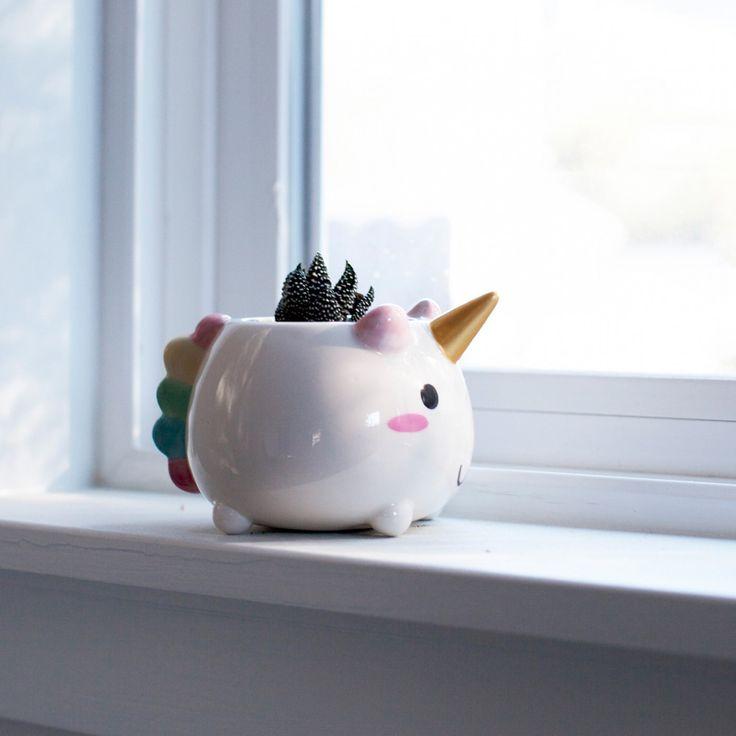 Mini Pot de fleur Licorne