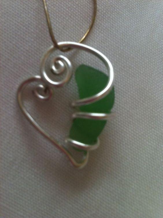 Wire wrap pendant #wirejewelry