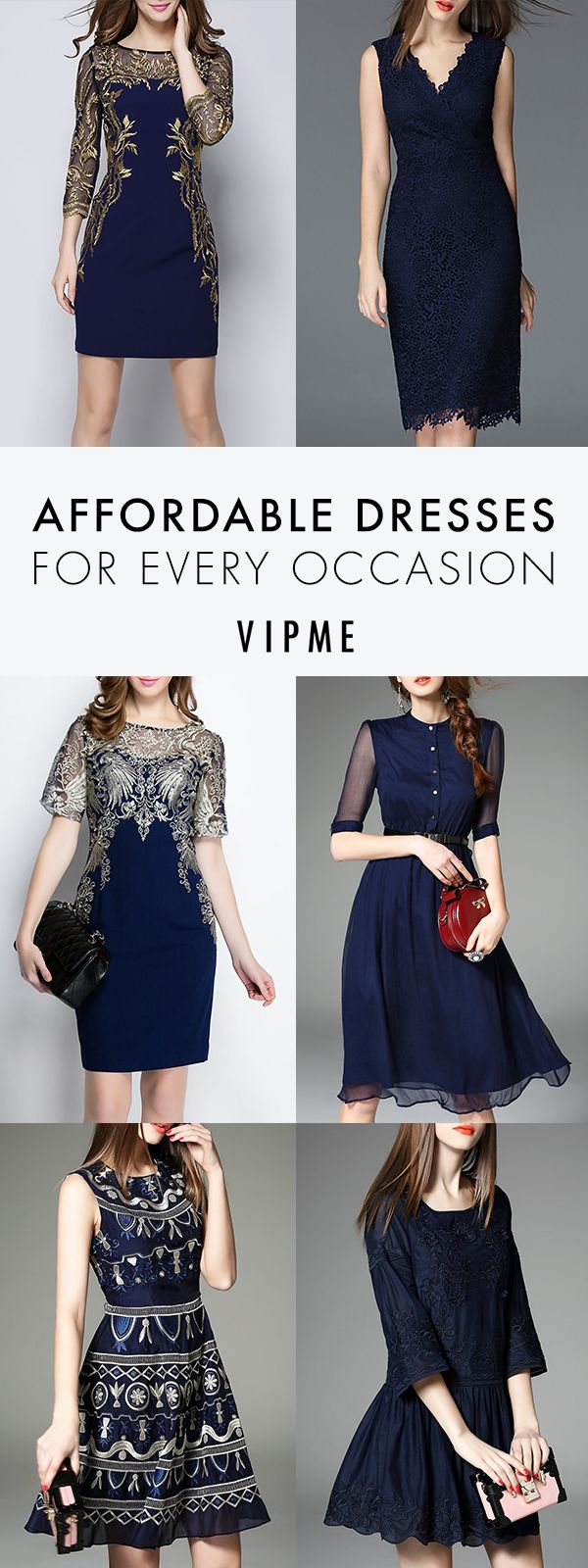 At VIPme.com, we turn runway fashion trends into affordable pieces that you can add to your wardrobe. Search through day, casual and party dresses to find the perfect dress for any occasion. Show off your VIP style in luxe fabrics like silk topped with sheer layers and intricate embroidered detailing.