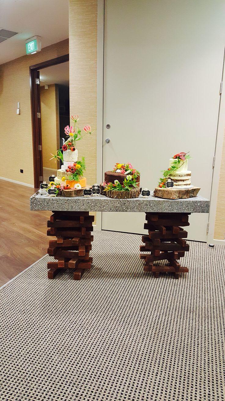 Gfrc cake table ready to go