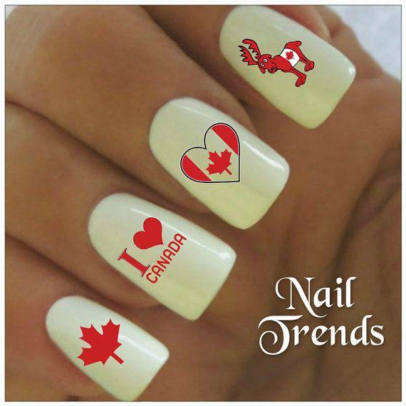 Canada Day Vinyl Nail Stickers