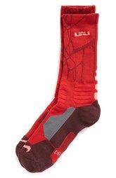 Nike 'LeBron - Hyper Elite' Cushioned Basketball Crew Socks (Big Kid)