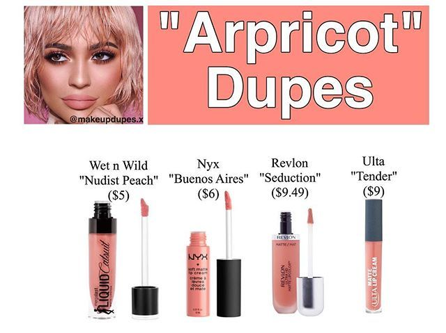 Kylie Cosmetics' new shade from the Valentines Collection in Apricot dupes