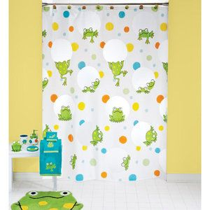 kids bathroom sets walmart peeking frogs vinyl shower curtain projects decor 18979