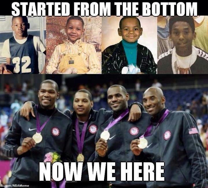 Kevin Durant, Carmello Anthony, LeBron James, Kobe Bryant   – Love to Laugh