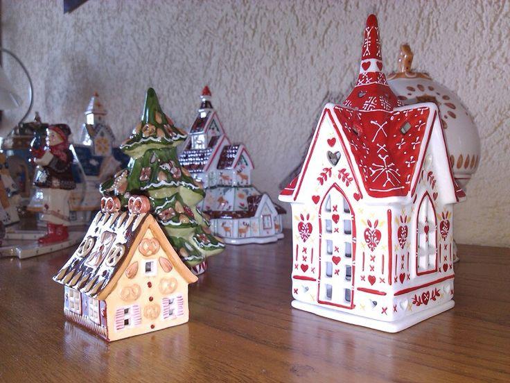 villeroy and boch christmas porcelain 3 piece train