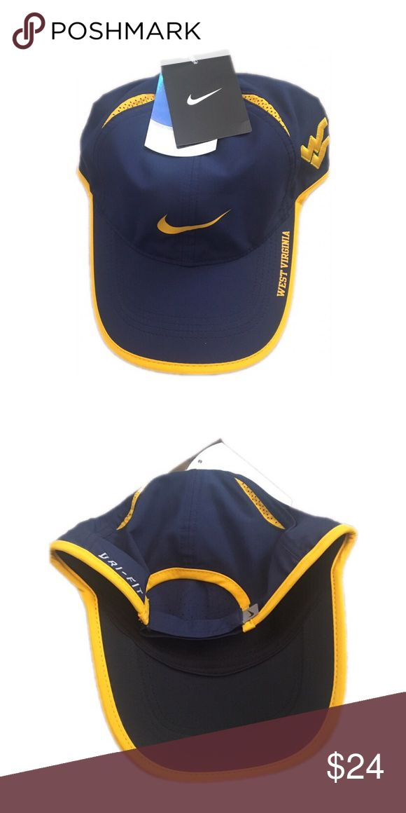 bfa2175e West Virginia Mountaineers Nike Adjustable Hat Cap Brand new with tags  officially licensed West Virginia Mountaineers Nike dri fit fe…