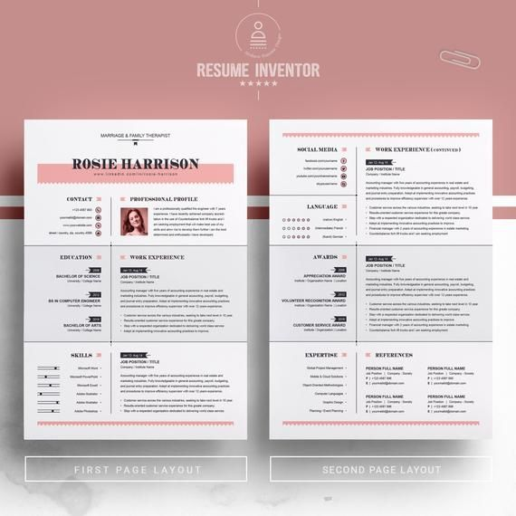 Modern And Creative Professional Resume Clean Cv Design Etsy Resume Design Resume Design Free Cv Design Template