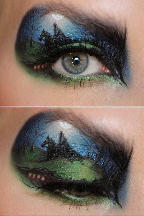 wicked #Hobbit makeup #eyeshadow #makeup #ringwraith