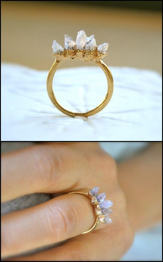 Raw Amethyst Spike Ring <3 https://uncovet.com/amethyst-spike-ring-19365?via=HardPin=type294
