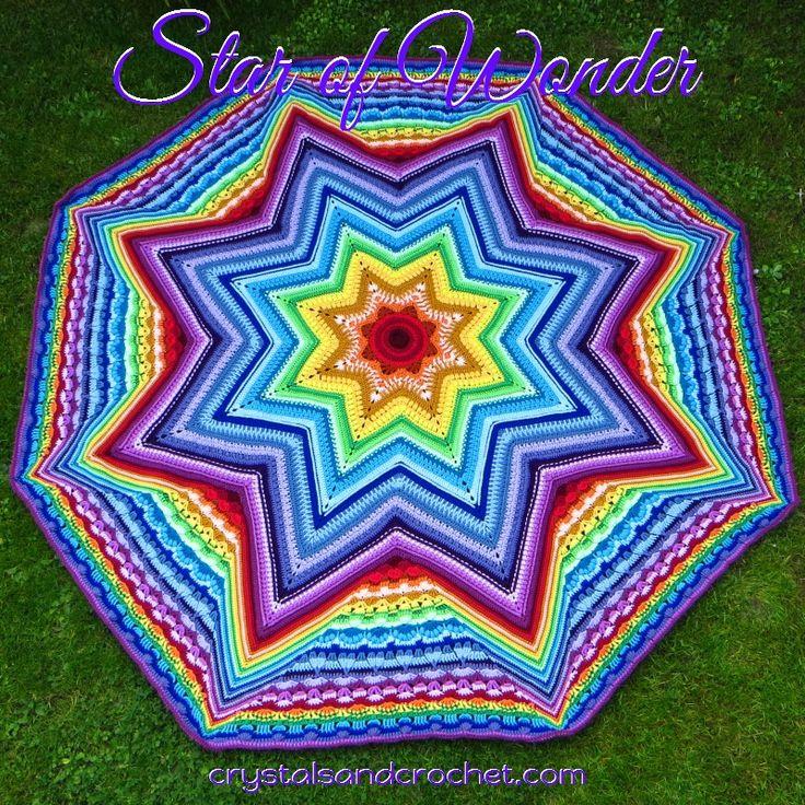 Star of Wonder - Crystals & Crochet octagonal crochet blanket, worked in the round.